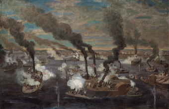 The Great Naval Battle Opposite the City of Memphis