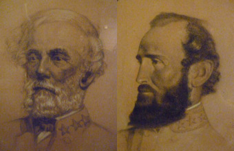 Robert E. Lee and Stonewall Jackson