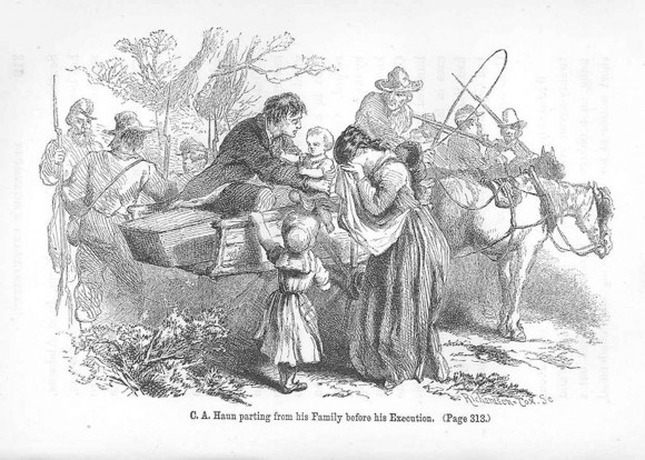 C.A. Haun Parting from His Family before His Execution