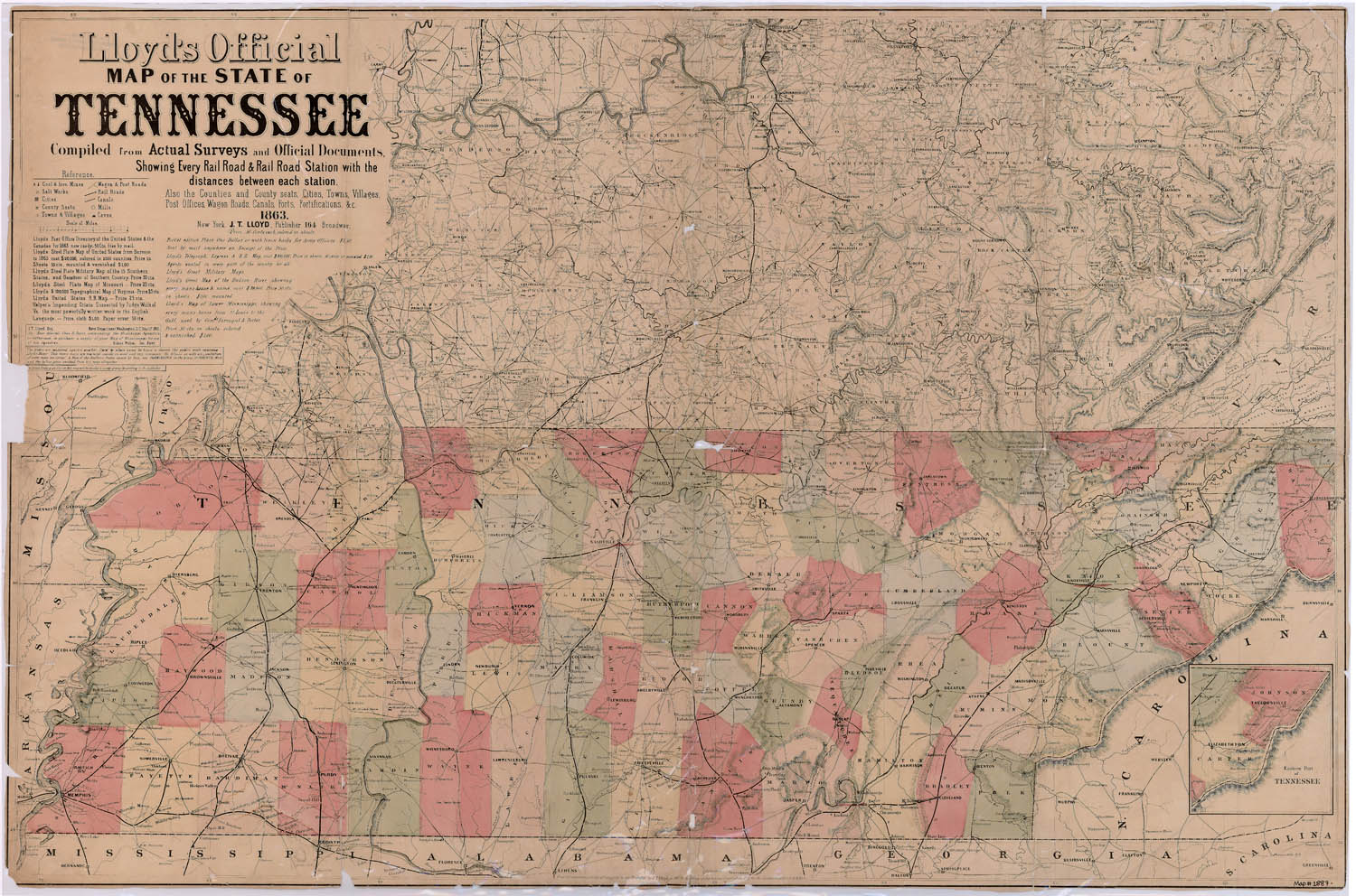 Map Of Tennessee Shades Of Gray And Blue - Map of the state of tennessee